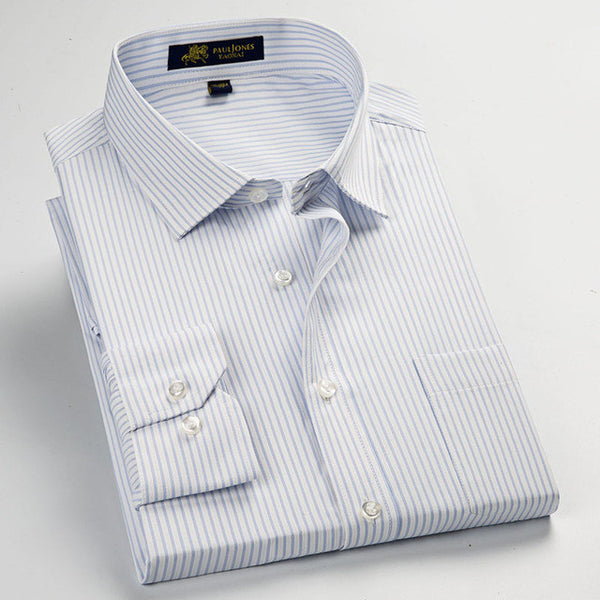 d3d520a20518c ... Classic Striped Men Dress Shirts Long Sleeve Plus Size Business Formal  Shirts Male Casual Shirts camisa ...