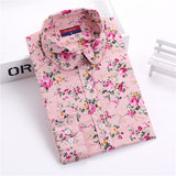Clearance! Women's Shirt Cotton Floral Print Blouse Long Sleeve Blusas Femininas Floral Woman Blouses Casual Blusas Mujer Shirts-Women's Blouses-Enso Store-Pinkflower-XXL-Enso Store