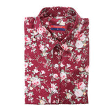 Clearance! Women's Shirt Cotton Floral Print Blouse Long Sleeve Blusas Femininas Floral Woman Blouses Casual Blusas Mujer Shirts-Women's Blouses-Enso Store-Wine flower-4XL-Enso Store