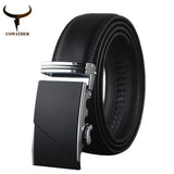 COWATHER High Quality Male New Brand COWgenuine Leather Belts for Men special letter Automatic Buckle Strap-Men's Accessories-Enso Store-Style1-110cm-Enso Store
