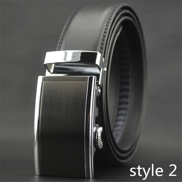 COWATHER High Quality Male New Brand COWgenuine Leather Belts for Men special letter Automatic Buckle Strap-Men's Accessories-Enso Store-Style2-110cm-Enso Store