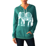 Cute Elephant Print Sweatshirt 2017 Women Hoodies Shirts Pullovers Full Sleeve kawaii Basic Tops Sweatshirt Plus Size GV439-Women's Shirts-Enso Store-Dark Gray-S-Enso Store
