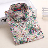 Dioufond New Floral Long Sleeve Vintage Blouse Cherry Turn Down Collar Shirt Blusas Feminino Ladies Blouses Womens Tops Fashion-Women's Blouses-Enso Store-blue floral-XXL-Enso Store