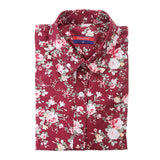 Dioufond New Floral Long Sleeve Vintage Blouse Cherry Turn Down Collar Shirt Blusas Feminino Ladies Blouses Womens Tops Fashion-Women's Blouses-Enso Store-wine floral-4XL-Enso Store