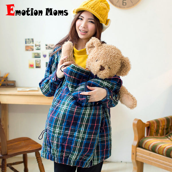 Emotion Moms Maternity Clothes Winter Warm Nursing Coat Windproof Maternity Coat Pregant Outwear Maternity Jacket Baby Carrier-Maternity-Enso Store-Blue-M-Enso Store