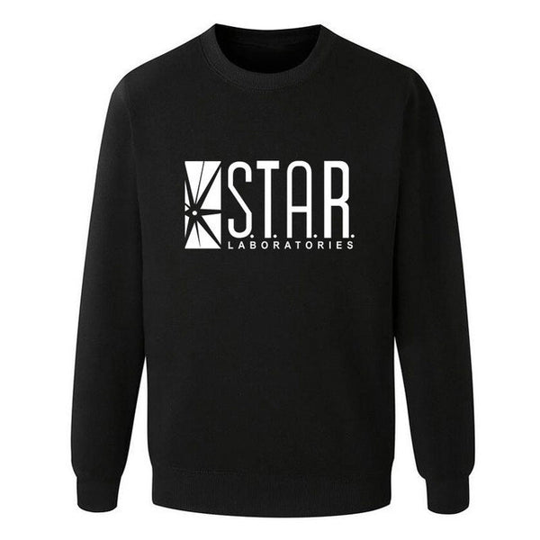 Eqmpowy Flash Barry Allen Star Lab Labs Black Color Mens Sweatshirt Men Novelty hoodies Pullover 2016 Male Clothes Arrow Friend - EnsoStore