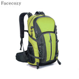 Facecozy Outdoor Camping Wear Resistant 40L Backpack Mountaineering Hunting Travel Backpack Big Capacity Waterproof Sports Bag-Sports Bags-Enso Store-Black-30 - 40L-Enso Store