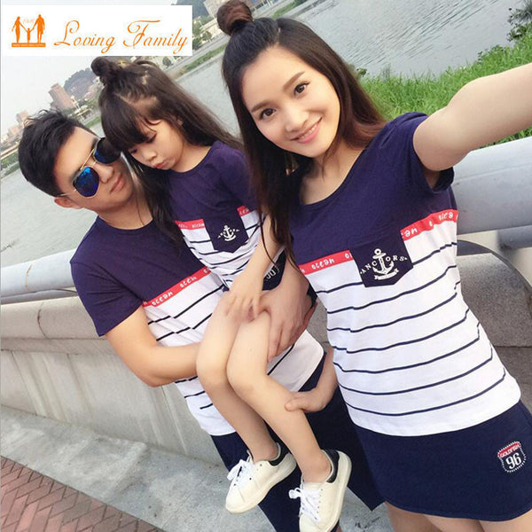 Family Look 2017 Summer Family clothing Mother Daughter Dress Family Matching Outfits Cotton Father Son T-shirt and pant-Family Matching Outfits-Enso Store-Pants-Mom S-Enso Store