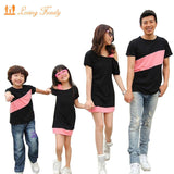 Family Look Clothing Special Shoulder For Mother Daughter Dresses Family Matching Outfits T-shirt for Father Son Family Clothes-Family Matching Outfits-Enso Store-boy t shirt BLACK-S-Enso Store