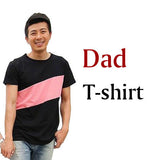 Family Look Clothing Special Shoulder For Mother Daughter Dresses Family Matching Outfits T-shirt for Father Son Family Clothes-Family Matching Outfits-Enso Store-dad t shirt BLACK-S-Enso Store
