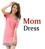 Family Look Clothing Special Shoulder For Mother Daughter Dresses Family Matching Outfits T-shirt for Father Son Family Clothes-Family Matching Outfits-Enso Store-mom dress PINK-XXL-Enso Store