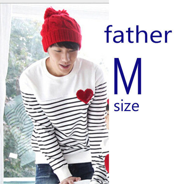 56c10ca14de ... family matching clothes Spring Autumn family clothing sets long sleeve  love Stripe father daughter baby girl