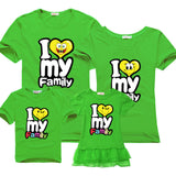 Family Matching Outfits for father mother & Kids summer t-shirt cotton baby daughter dresses boy clothes families dad and son-Family Matching Outfits-Enso Store-green-Female 160cm-Enso Store