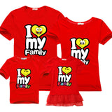 Family Matching Outfits for father mother & Kids summer t-shirt cotton baby daughter dresses boy clothes families dad and son-Family Matching Outfits-Enso Store-ren-Female 160cm-Enso Store