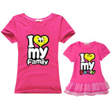 Family Matching Outfits for father mother & Kids summer t-shirt cotton baby daughter dresses boy clothes families dad and son-Family Matching Outfits-Enso Store-rose-Female 160cm-Enso Store