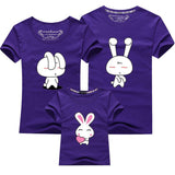 Family Matching Outfits Look Mom and Daughter Mother Father Son Clothes Cartoon Bunny Rabbit Tee Tops Summer Baby Kids T-shirt-Family Matching Outfits-Enso Store-as picture 5-mom S-Enso Store