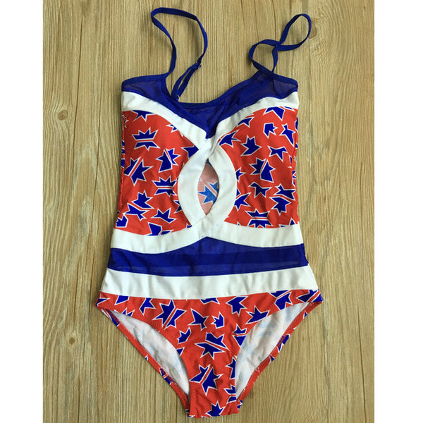 new list volume large new products Famous Brand Custom Women Bathingsuits sexy Lady hollow One-piece Swimsuit  Double C Pattern Swimwear Fast shipping