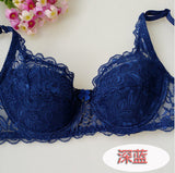Fashion New Sexy Ladies Sexy Underwear Full Coverage Minimizer Non Padded Lace Sheer Bra 9 Color 34-40 AB Cup-Women's Bras-Enso Store-Blue-A-34-Enso Store