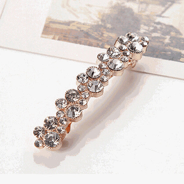 Fashion New Women Girls Elegant Crystal Rhinestone Pearl Barrettes Hair Clip Clamp Hair Accessories the cheapest products-Women's Accessories-Enso Store-01-One Size-Enso Store