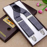 Fashion Printed Suspenders Men Three Clips-on Braces Vintage Mens Suspender For Trousers Husband Male Suspensorio For Skirt - EnsoStore