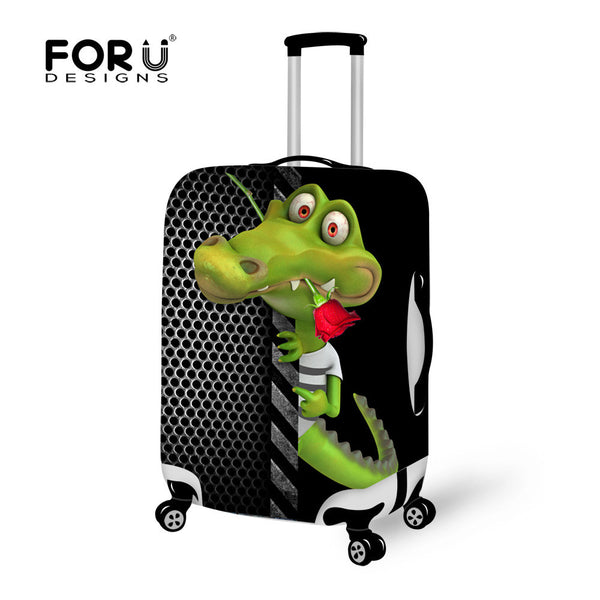 FORUDESIGNS Zoo Animal Luggage Protective Case Alligator Luggage Cover for 18-30 inch Trolley Suitcase Elastic Dust Rain Cover-Bag Parts & Accessories-Enso Store-CA4571S-Enso Store