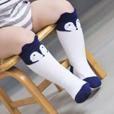 Fox Design 3 Colors Cotton Knee Baby Socks Winter Fall Cute Boys Girls Socks-Girls Clothing-Enso Store-White-0to 18M-Enso Store