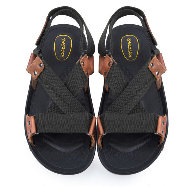 968dab24d3013 Gamiss Summer Men Leather Sandals Brand Designers Male Sandalias ...