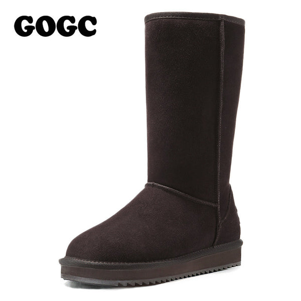 f45a7551d40c GOGC 2017 New Arrival Women s Winter Shoes for Women Warm Women s Boots  Female Footwear Made of Genuine Leather Winter Boots Fur
