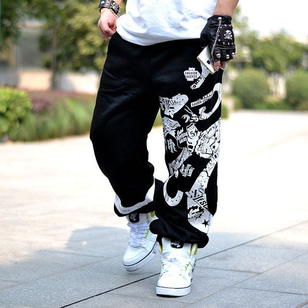 91fdfc19c0a7 Hip Hop Style Dance Pantalone Male Baggy Harem Pants Men Loose Drop Crotch  Harem Pants Men