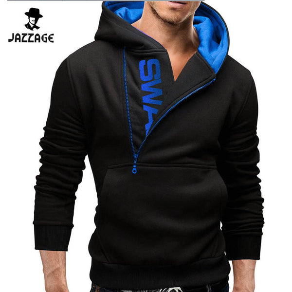 Hoodies Men 2016 Brand Sweatshirt Men Hoodies Fashion Solid Hoodie Mens Leisure Mens Tracksuits Moleton Masculino Plus Size 4XL-Men's Hoodies & Sweatshirts-Enso Store-Black blue-M-Enso Store