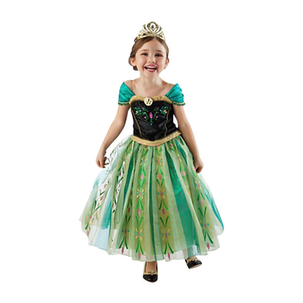 Hot 2015 Summer Girl Fashion Elsa Anna Dress Children Clothing Girls Princess Elsa Anna Party Dresses Baby Kids Clothes Vestidos-Girls Clothing-Enso Store-blue-2T-Enso Store