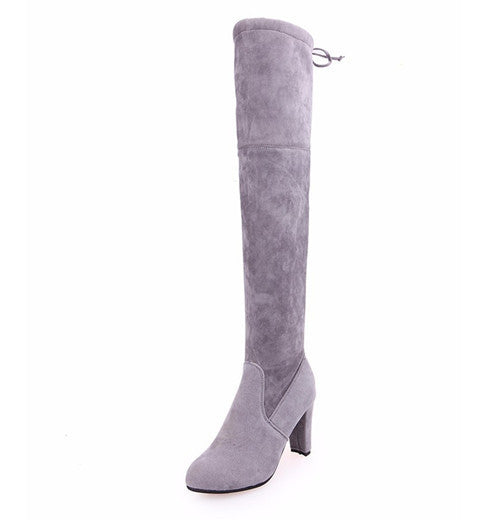 dbb2f1d59d63 ... Hot Sale solid women thigh high boots designer over the knee boots  woman casual shoes high