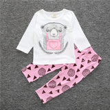 Infant Baby Clothing Sets Boy Long Sleeve T-shirt+Pant Kids Spring Autumn Outfits Set Toddler Monster Suits Baby Girls Clothes-Baby Boys Clothing-Enso Store-as pic show 14-9M-Enso Store