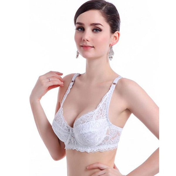 cbc1ed68d8a57 ... JECKSION Bras for Women Sexy Push Up Deep V Bra Ultrathin Underwire  Padded Lace Brassiere Bra ...