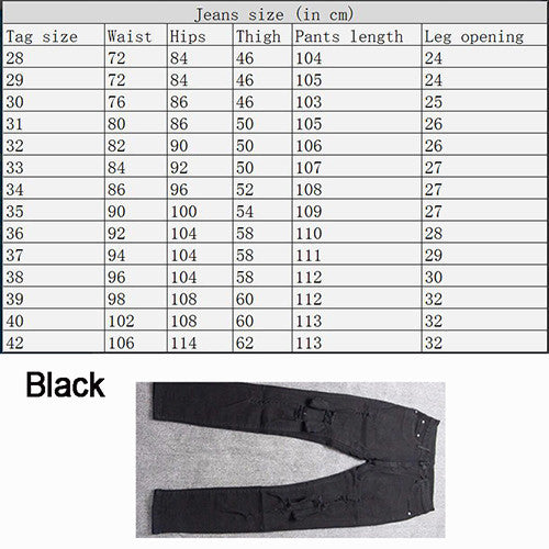 Kanye West Skinny Ripped Jeans For Men Male Black Motorcycle Camouflage Jeans Denim Pants Fashion Brand Swag Hole Biker Jeans-Men's Jeans-Enso Store-Black Check size-28-Enso Store