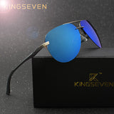 KINGSEVEN Aluminum Magnesium Polarized Sunglasses Men Driver Mirror Sun glasses Male Fishing Female Eyewear For Men-Men's Accessories-Enso Store-C01 General package-Enso Store