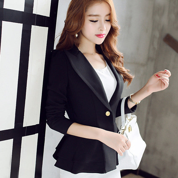 Ladies Blazers 2016 New Fashion Single Button Blazer Women Suit