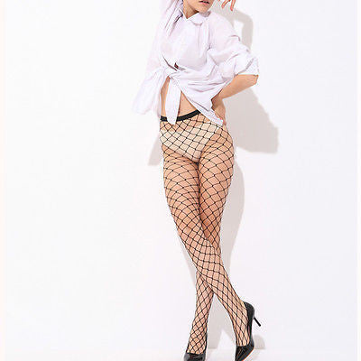 04d60046819 ... Lady Women Sexy Pantyhose Mesh Fishnet Nylon Tights Long Stocking  Jacquard Step Foot Seam Pantyhose High ...