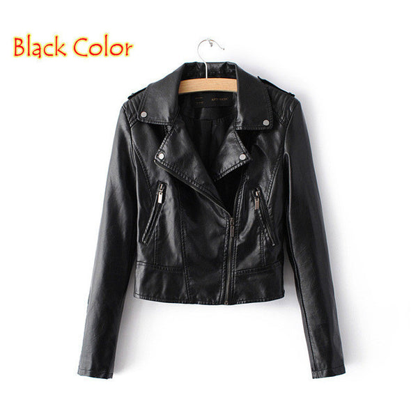 Lars Bell Motorcycle Leather Jacket 1603-Women's Jackets & Coats-Enso Store-1603 Black-S-Enso Store