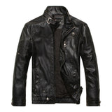 Leather & Suede Plus Velvet Motorcycle PU Leather Jackets Men 2016 New arrived Autumn Winter Business casual fashion coats-Men's Jackets & Coats-Enso Store-8805 AS PICTURE 1-M-Enso Store