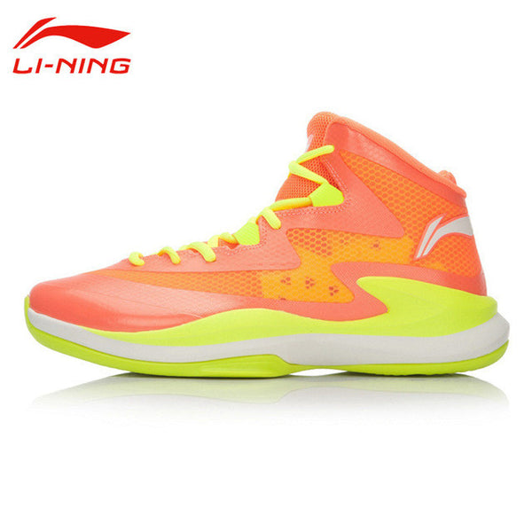 Li-Ning Men's Outdoor Lace-Up Breathable Basketball Shoes Li Ning Cushioning Wear-Resisting Anti-Slip Sports Sneakers ABFL011-Men's Basketball Shoes-Enso Store-ABFL011 orange 1-8-Enso Store