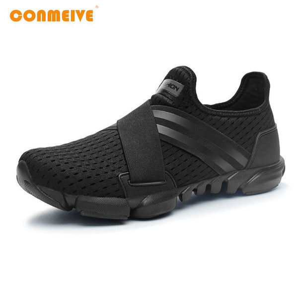 Limited Hard Court Wide(c,d,w) Running Shoes Men Breathable Sneakers Slip-on Free Run Sports Fitness Walking-Men's Running Shoes-Enso Store-Black-7-Enso Store