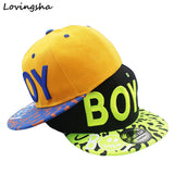 LOVINGSHA New Spring Summer Baby 3D Letter BOY cap boy Adjustable Baseball Cap 3-8 Years Kids Snapback Hip-Hop Hats Sun Hat C-12-Team Sports-Enso Store-Blue-China-Enso Store