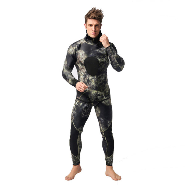LumiParty Diving suit neoprene 3mm men pesca diving spearfishing wetsuit snorkel swimsuit Split Suits combinaison surf wetsuit-Men's Swimwear-Enso Store-XXL-Enso Store