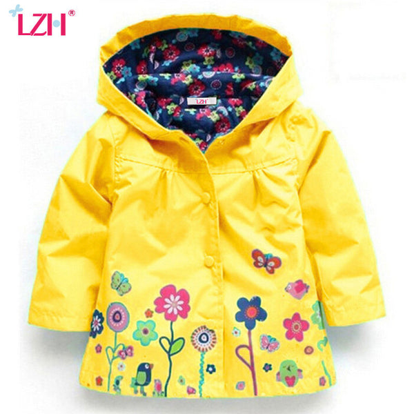 LZH 2017 Spring Autumn Girls Jacket For Girls Windbreaker Boys Jacket Kids Raincoat Coat Outerwear Children Jacket Girls Clothes-Girls Clothing-Enso Store-Pink-2T-Enso Store