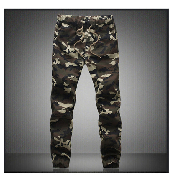 M-5X Mens Jogger Autumn Pencil Harem Pants Men Camouflage Military Pants Loose Comfortable Cargo Trousers Camo Joggers-Enso Store-Green-M-Enso Store