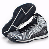 Men Adult Boy High Quality Sneakers Black and White Basketball Boots Indoor Basketball Shoes #BS2008R - EnsoStore