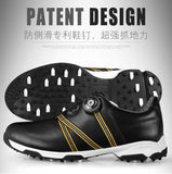 Men Automatic BOA-lace first layer leather waterproof breathable anti-skid patent design sport shoes - EnsoStore