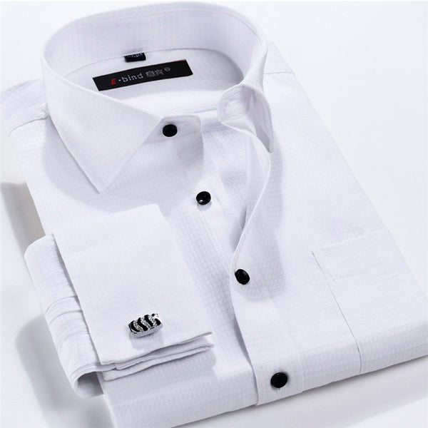 Men 39 s shirts enso store for Mens shirts with cufflinks