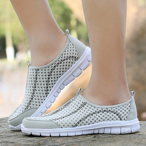 Men Shoes Loafers Summer Breathable Mesh Shoes Slip On Fashion Men Loafers Summer Light Casual Shoes 36-48 - EnsoStore